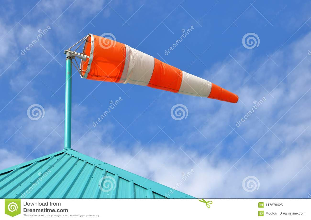 A Wind Sack Measures Wind Speed Stock Image