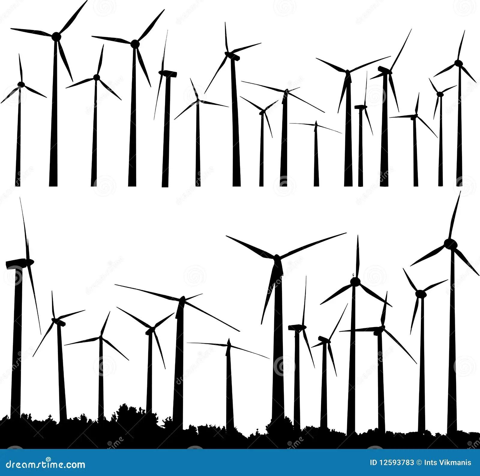 Wind Turbines Stock Vector Illustration Of Development