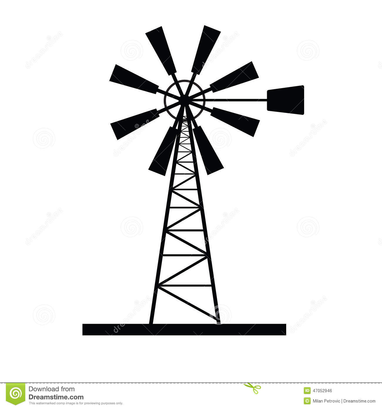 Windmill Icon Vector Stock Vector Illustration Of Wind