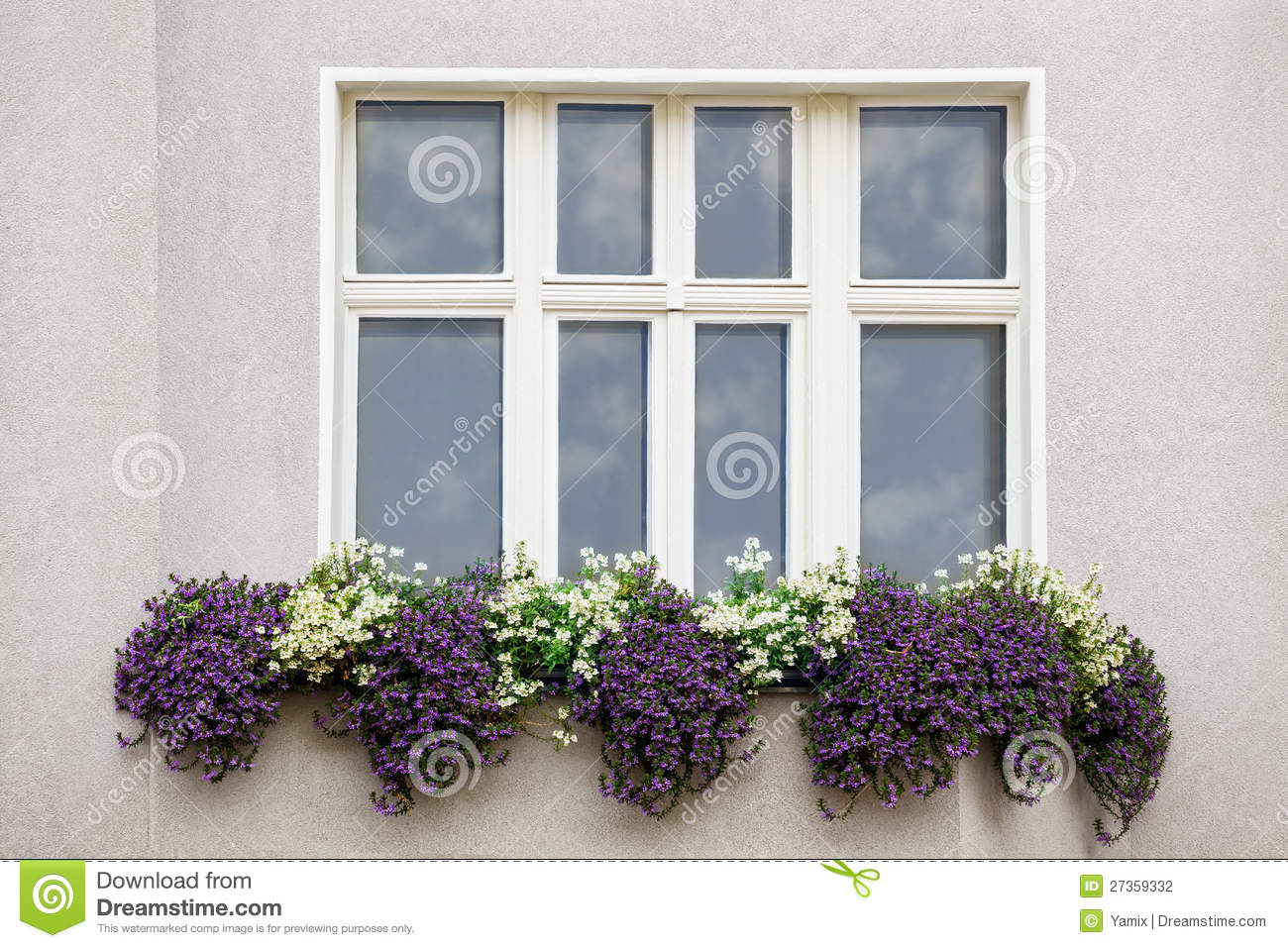 Window With Flowers Stock Photography Image 27359332