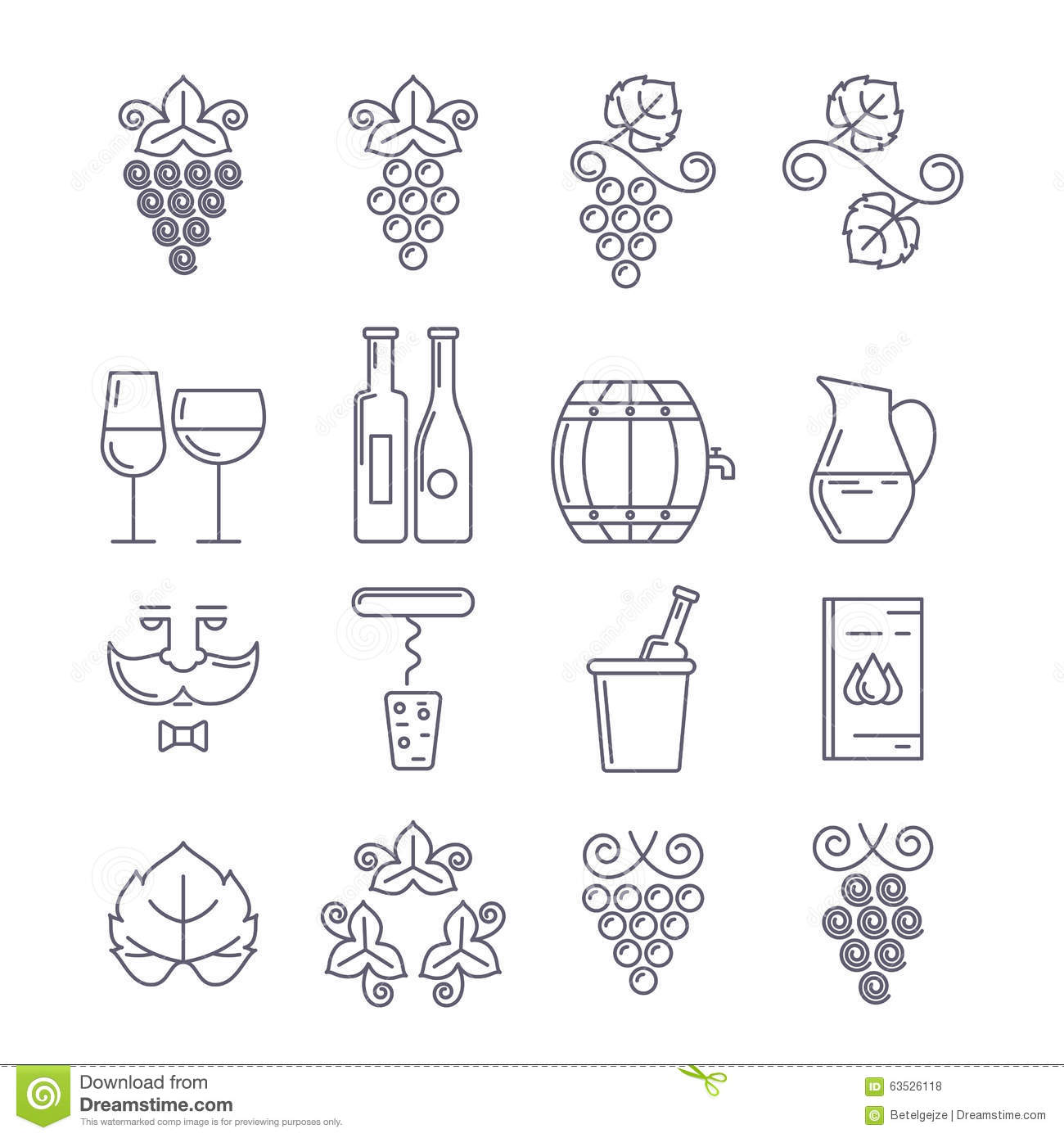 Wine Bottle Glass Gvine And Leaf Food And Drink