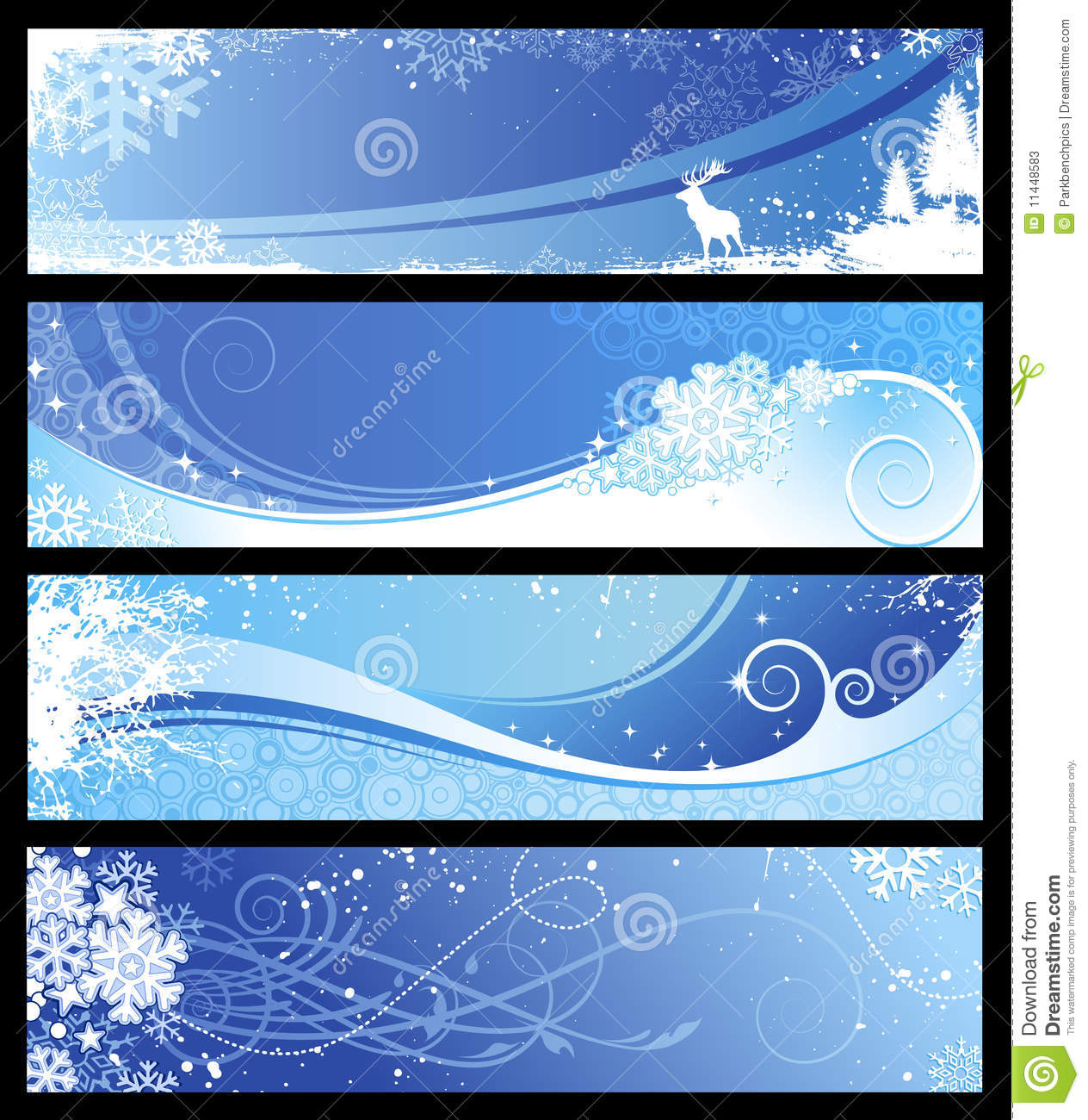 Winter Or Christmas Banners Stock Photos Image 11448583