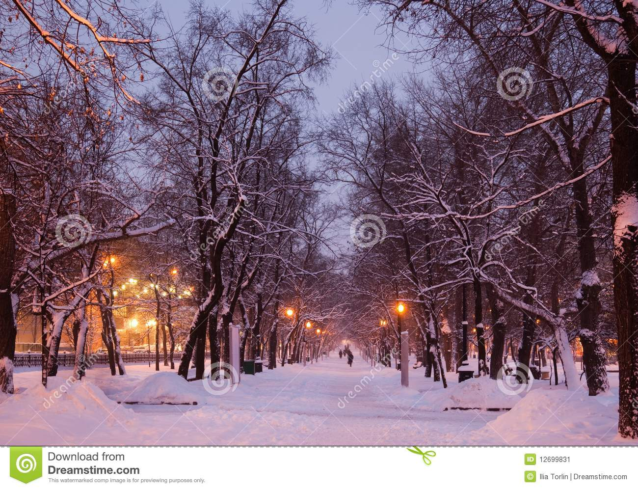 Winter Evening Moscow Russia Stock Image Image 12699831