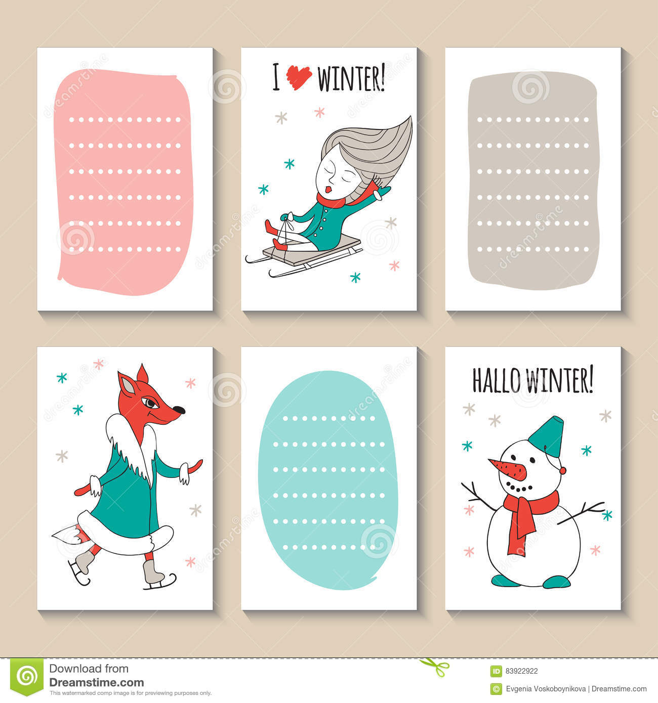 winter fun ice skating and sled stock vector illustration of love girl 83922922