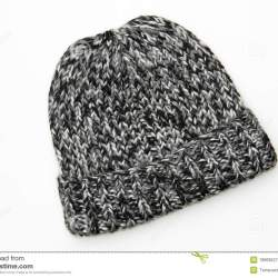 c63f9278 Knitted Hat With Flower Black White | Gardening: Flower and Vegetables
