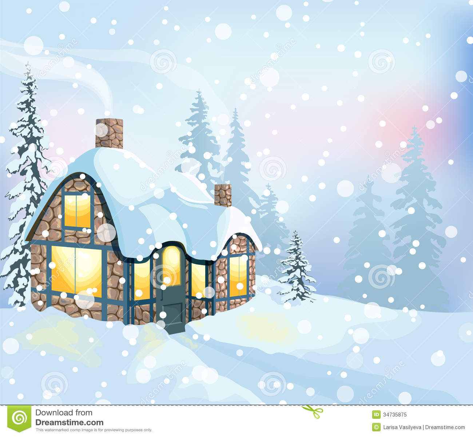 Winter Landscape 3 Royalty Free Stock Photo Image 34735875