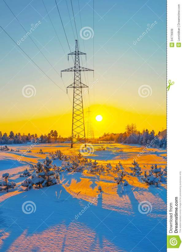 Winter Landscape Royalty Free Stock Images - Image: 34776939