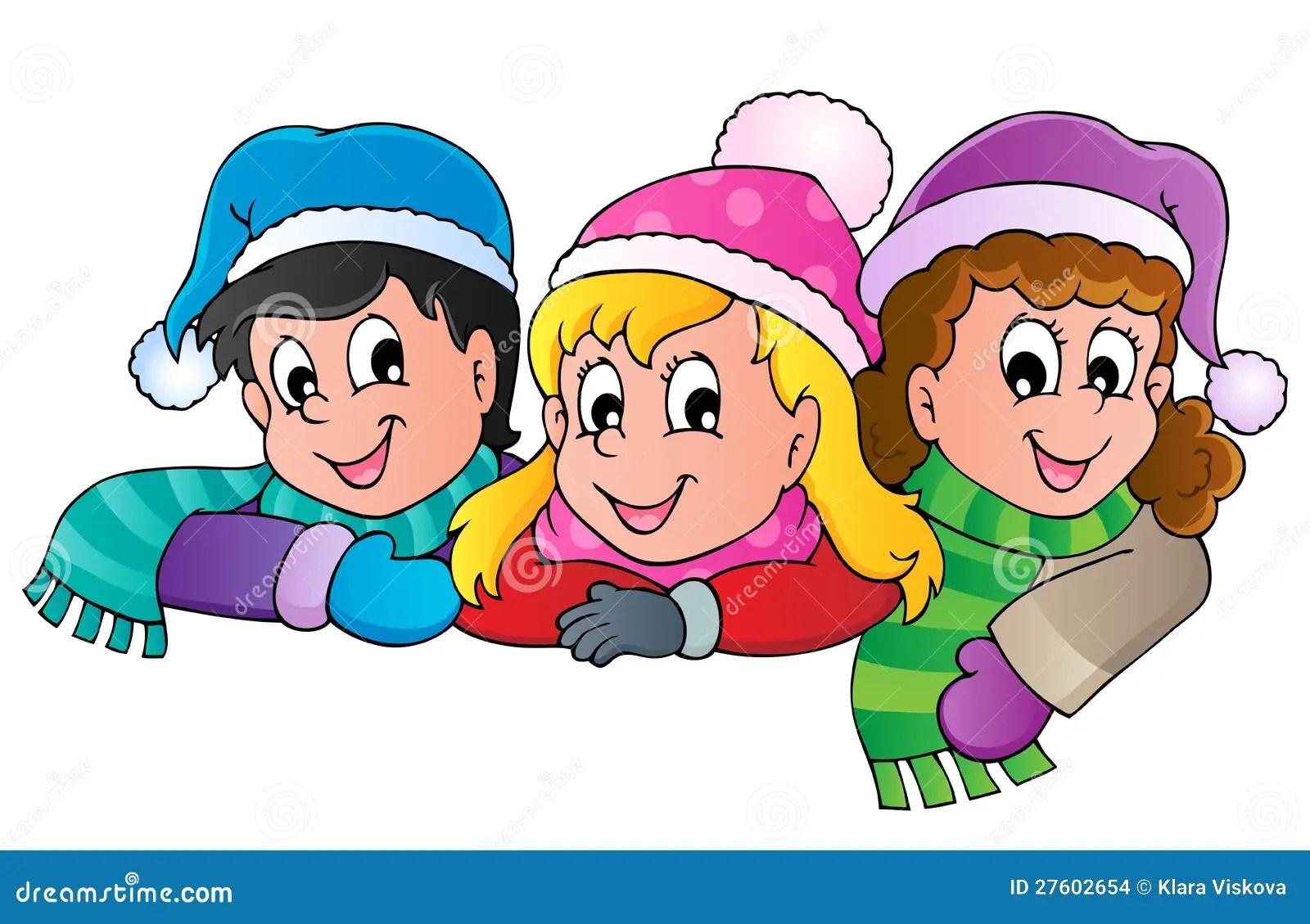 Winter Person Cartoon Image Stock Vector Image 27602654