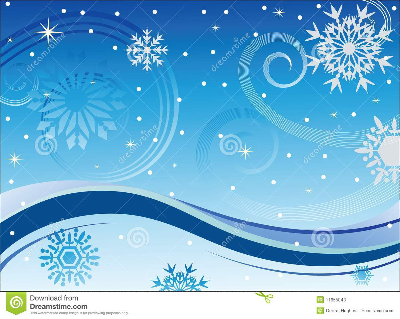 Winter Wind And Snowflakes Stock Photos Image 11655843