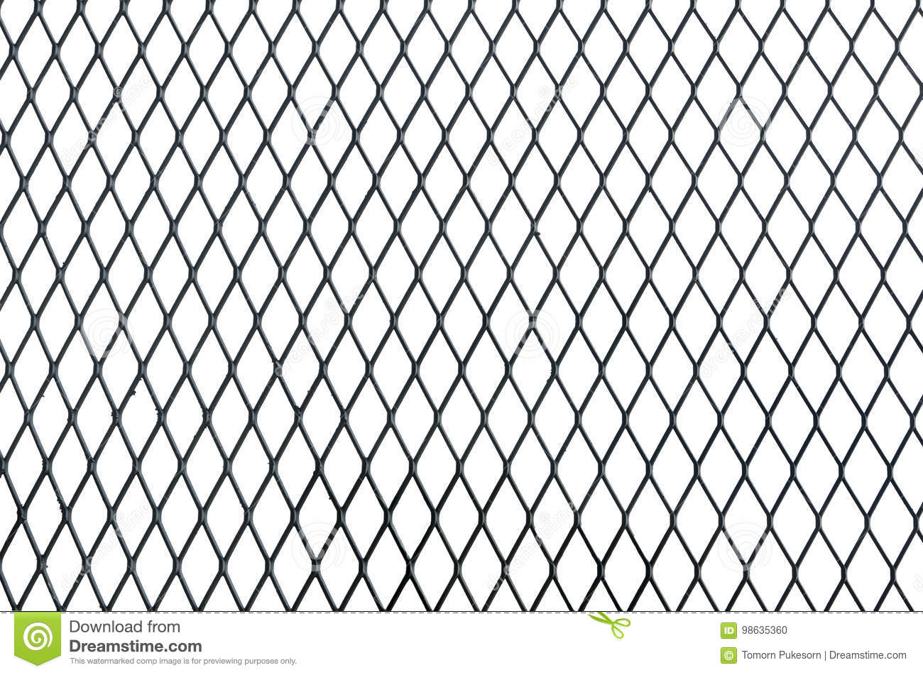 Wire Net Texture Isolated On White Background Stock Photo