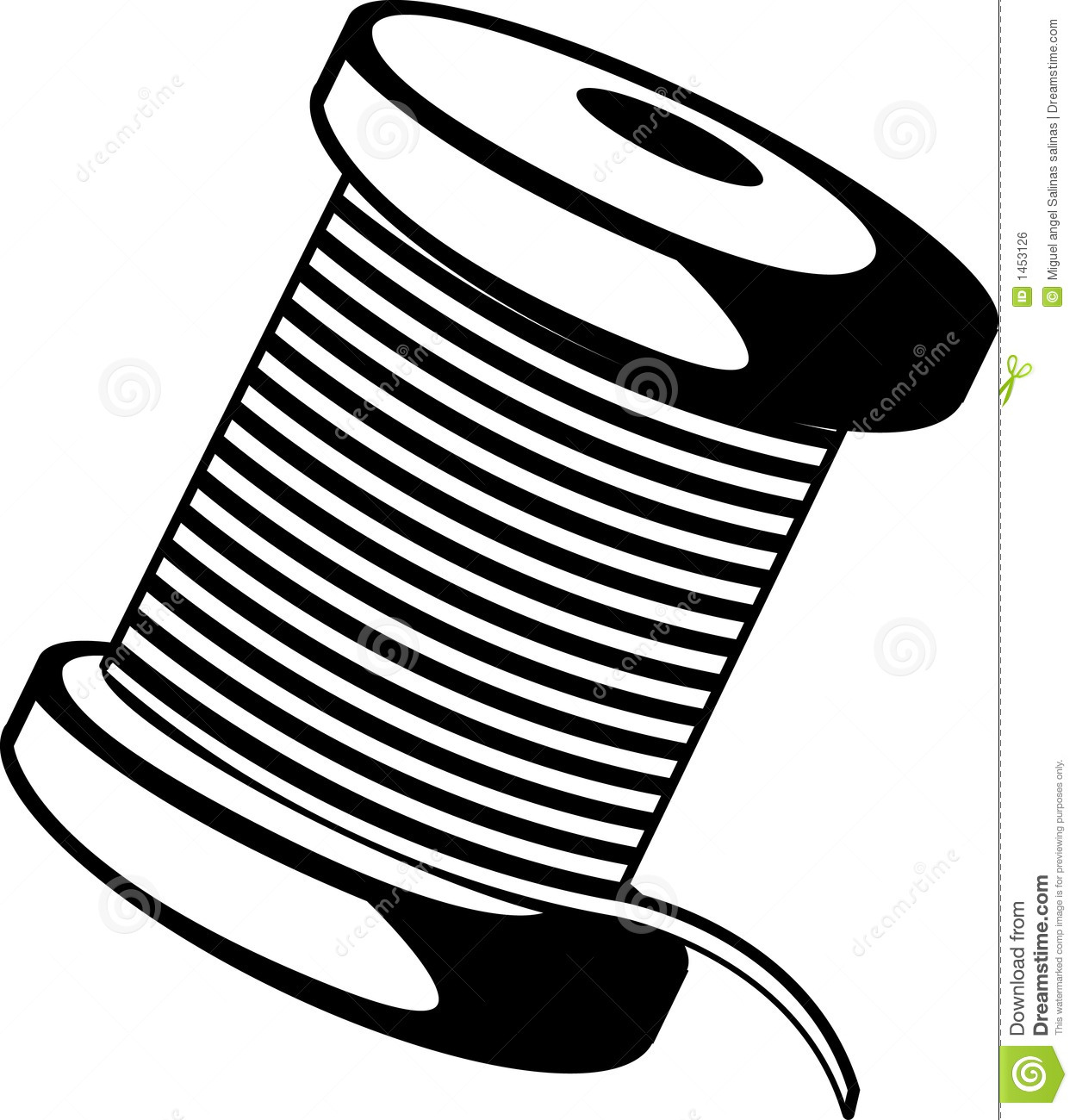 Wire Spool Stock Illustrations 355 Wire Spool Stock