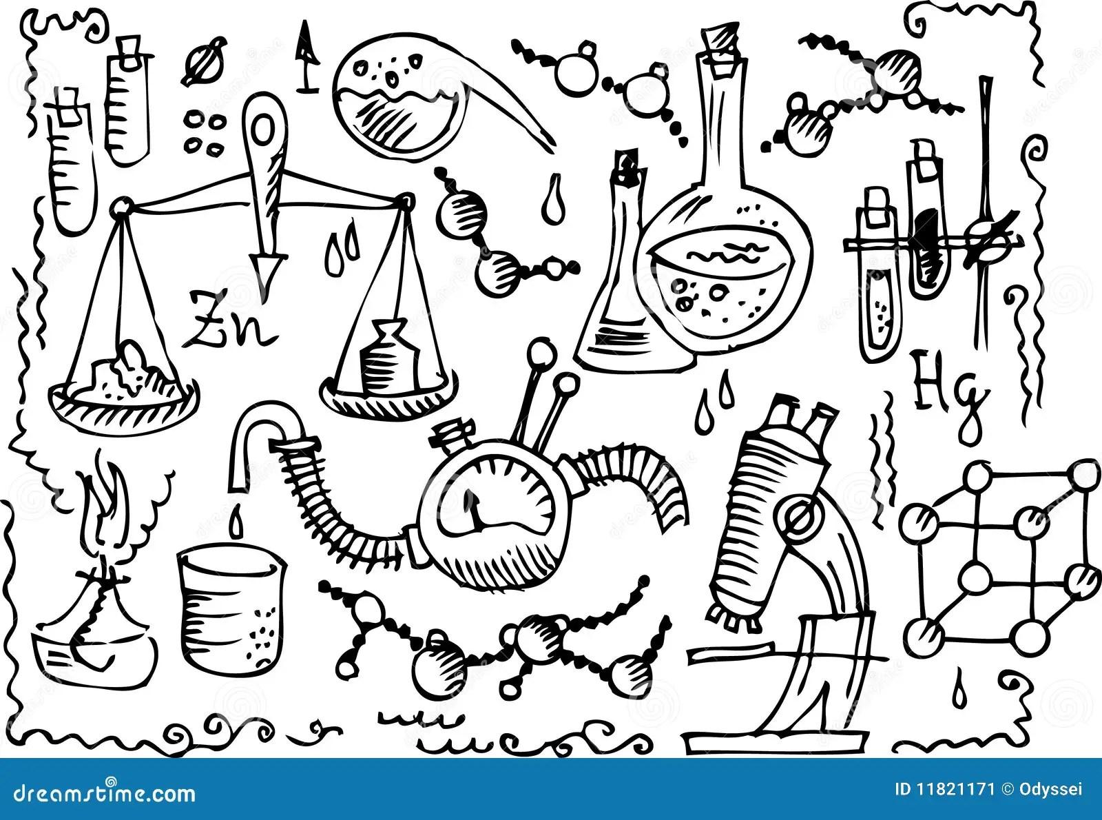 Wissenschaftliches Labor Iv Vektor Abbildung