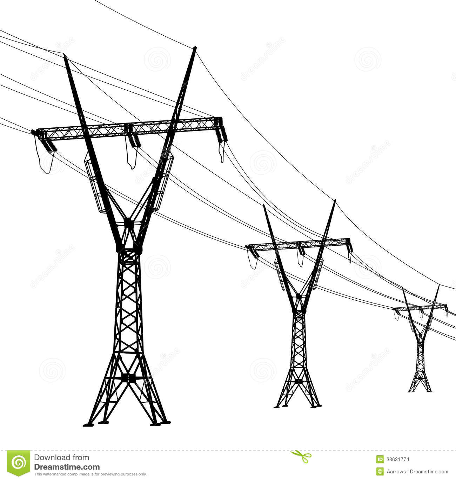 Wolta Linie Energetyczne Ilustracja Wektor Ilustracja
