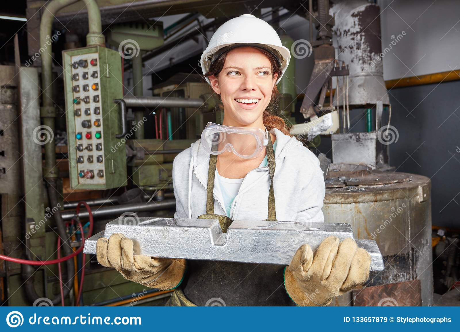 Steel Production Quality Control Stock Image