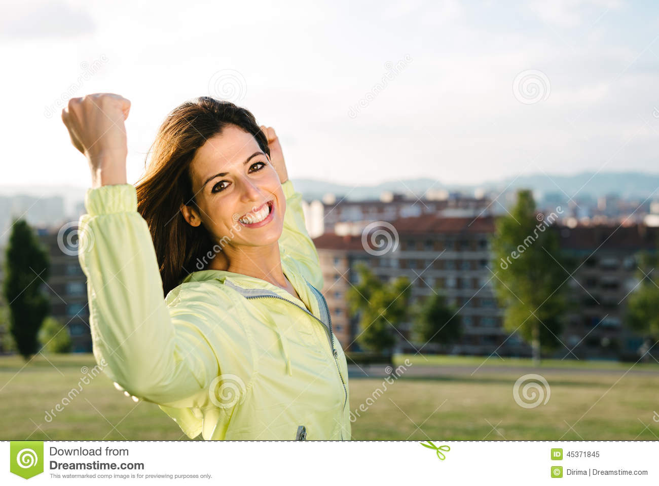 Woman Celebrating Sport And Fitness Lifestyle Success And