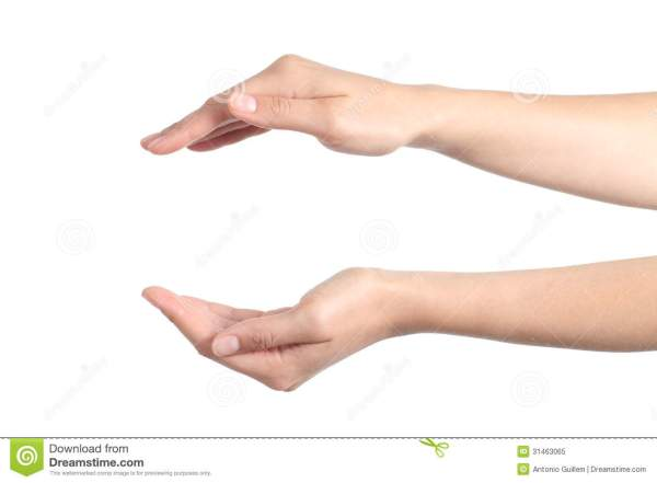 Woman Hands With A Protection Gesture Stock Image - Image ...