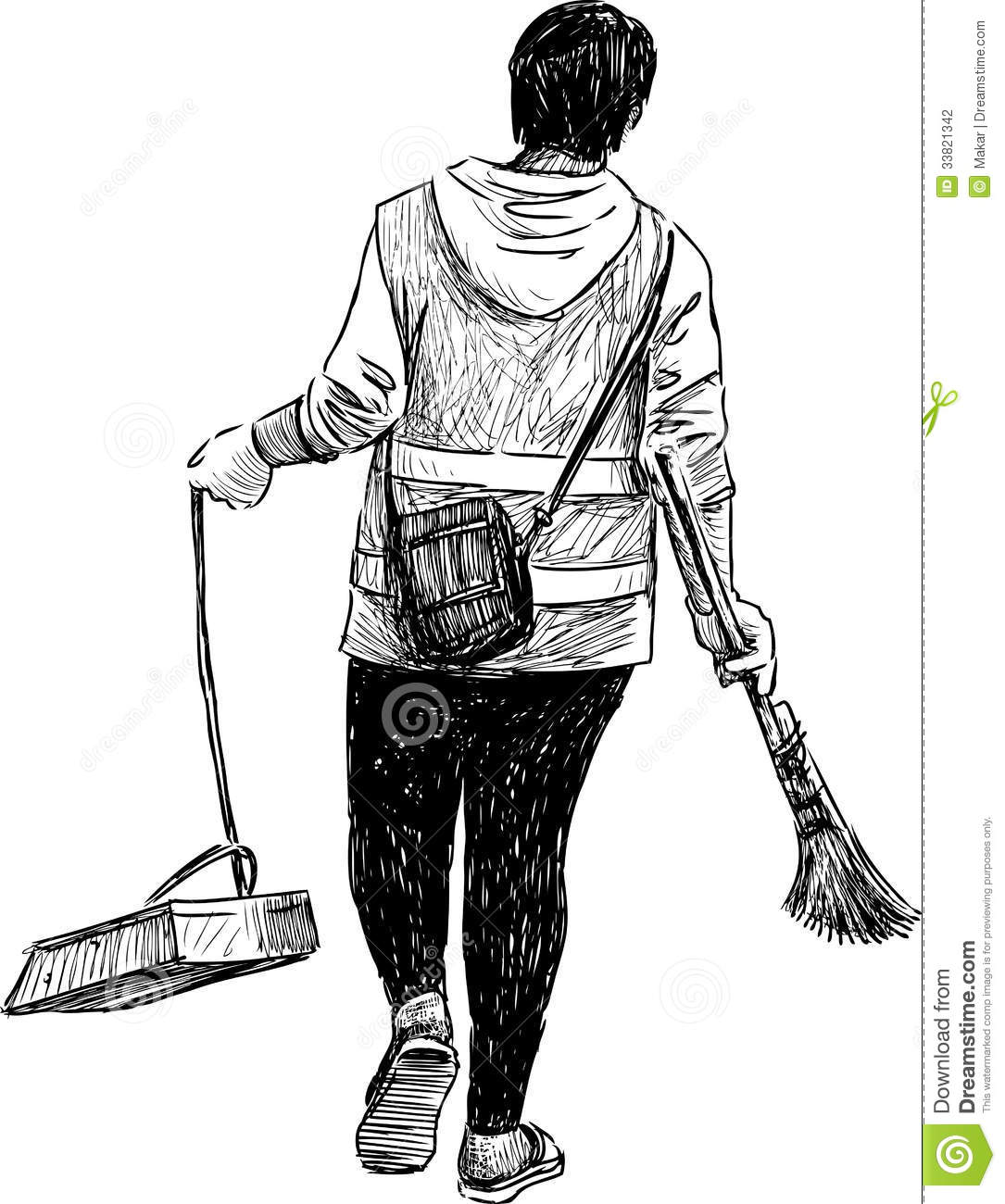 Woman Janitor Stock Photography