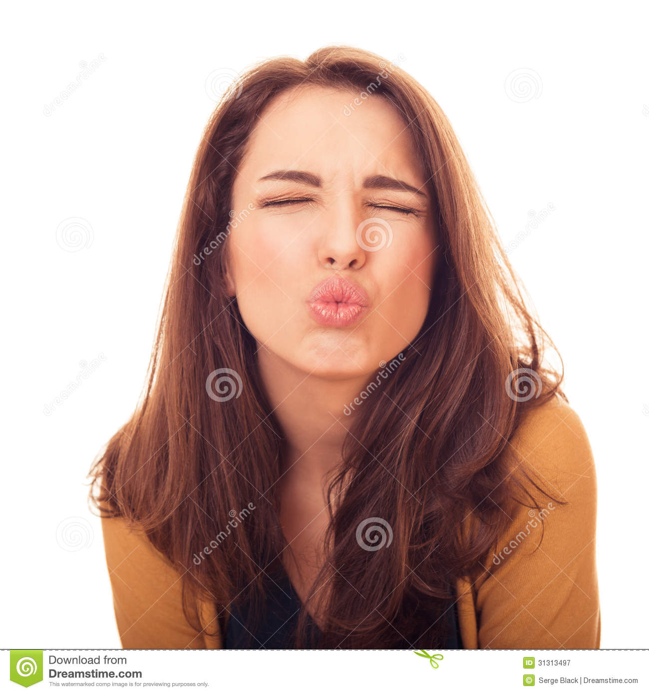 Woman Kiss On Camera Stock Image Image Of Attractive