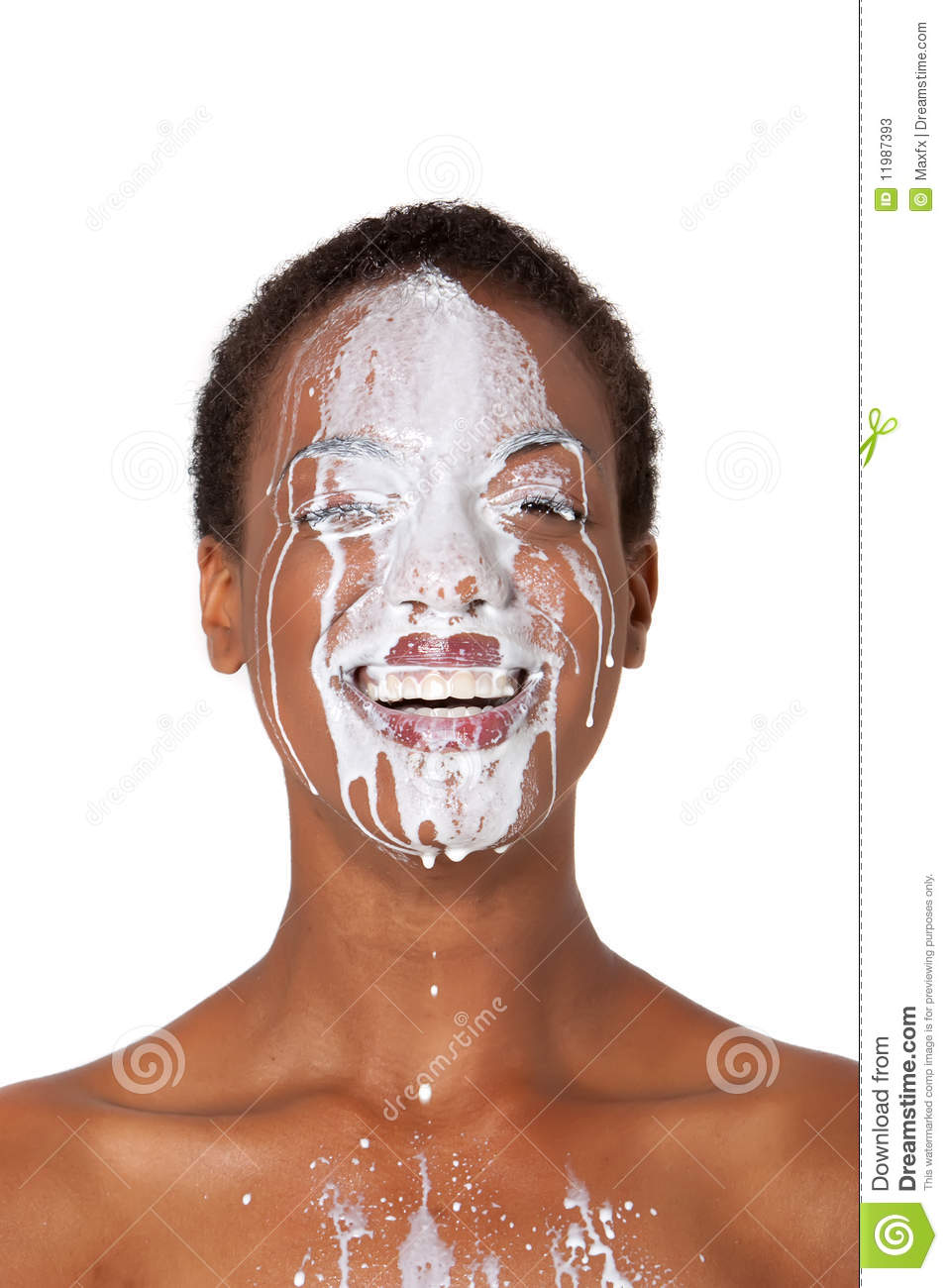 Woman With Milk Stock Image Image Of Smile Female Drip