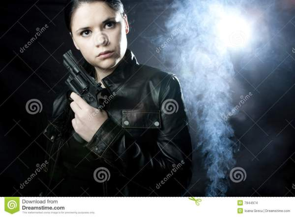 Woman Private investigator stock photo. Image of think ...