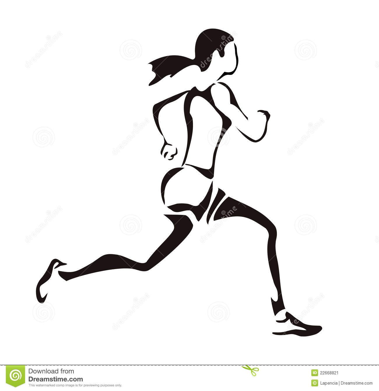 Woman Running Stock Vector Illustration Of Trail Young