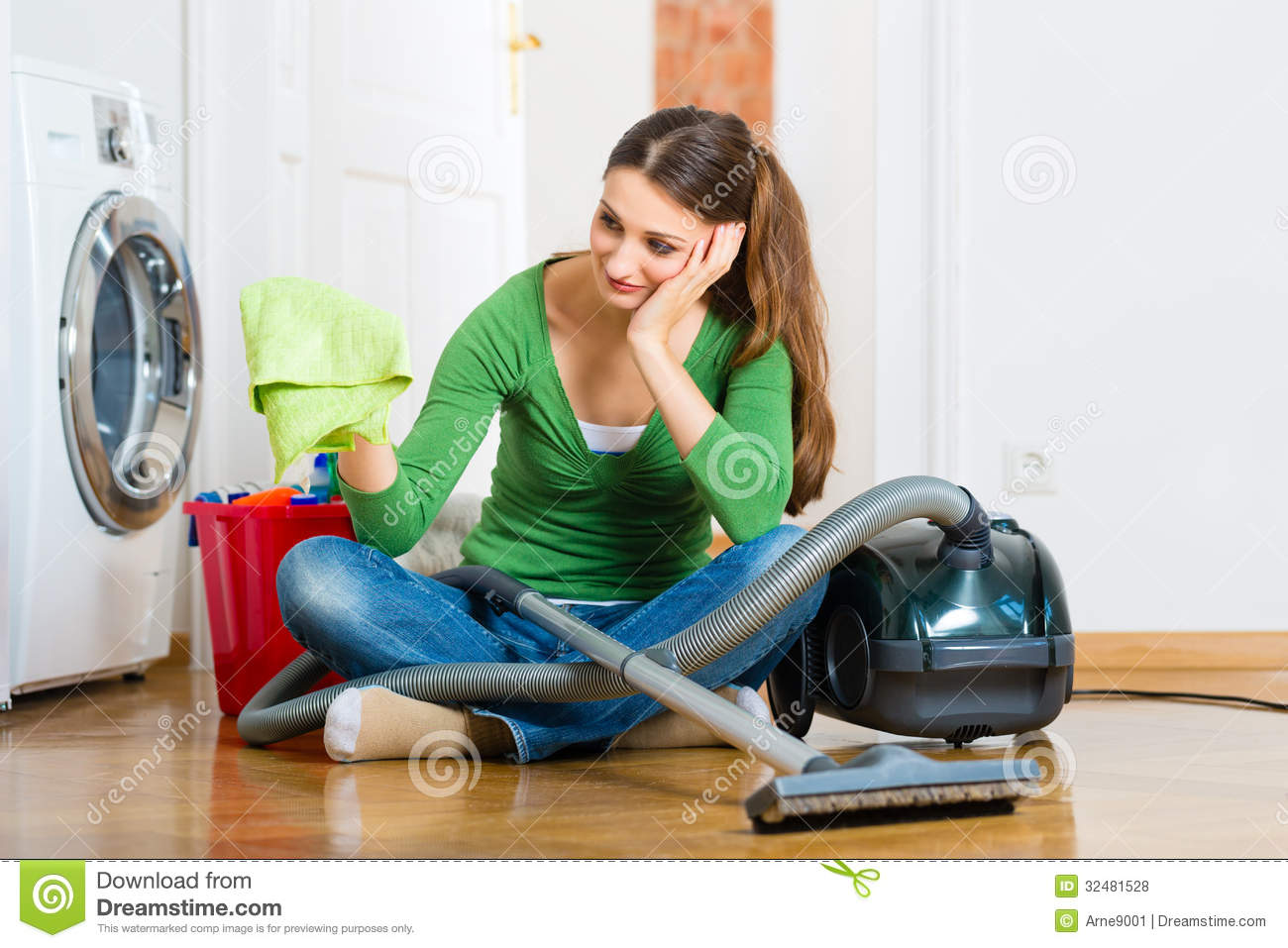 Woman At The Spring Cleaning Stock Photo Image 32481528