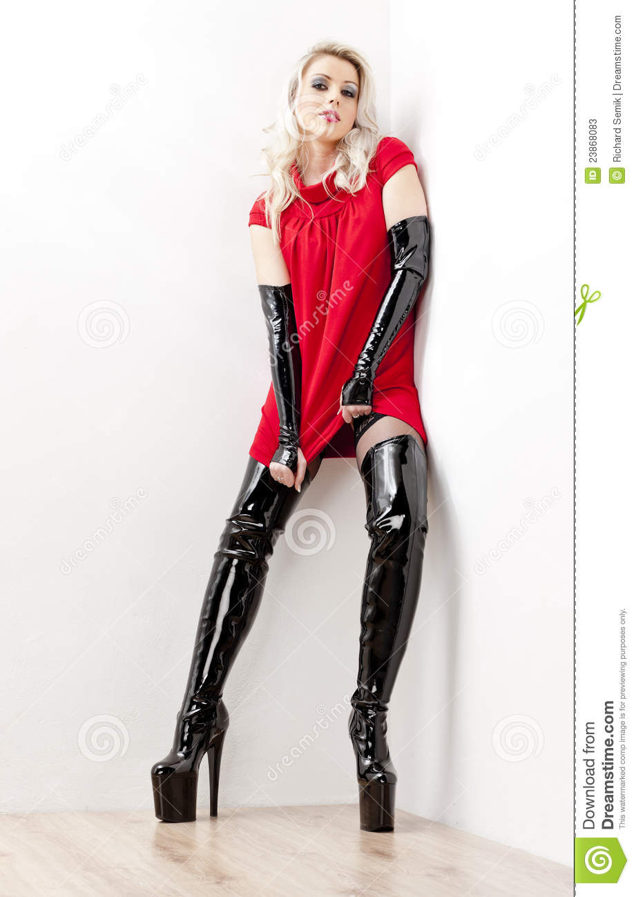 Woman Wearing Extravagant Boots Stock Photos Image 23868083