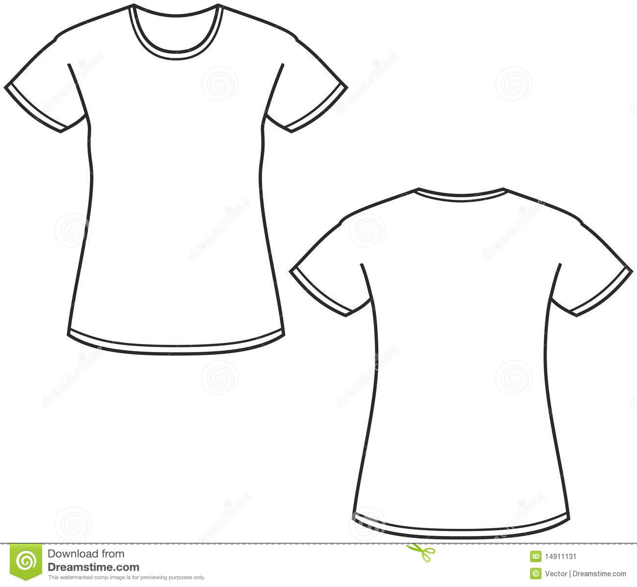Women S T Shirt Illustration Stock Vector