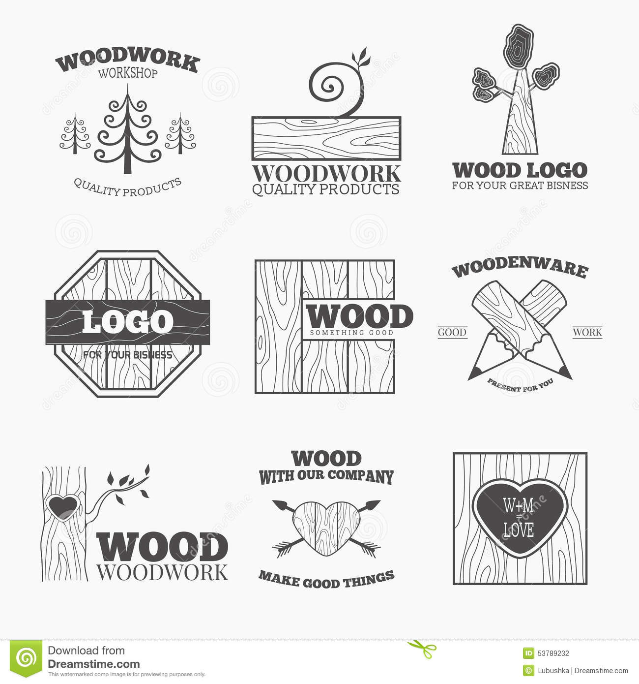 Wood Products Logo Vector Stock Vector Illustration Of