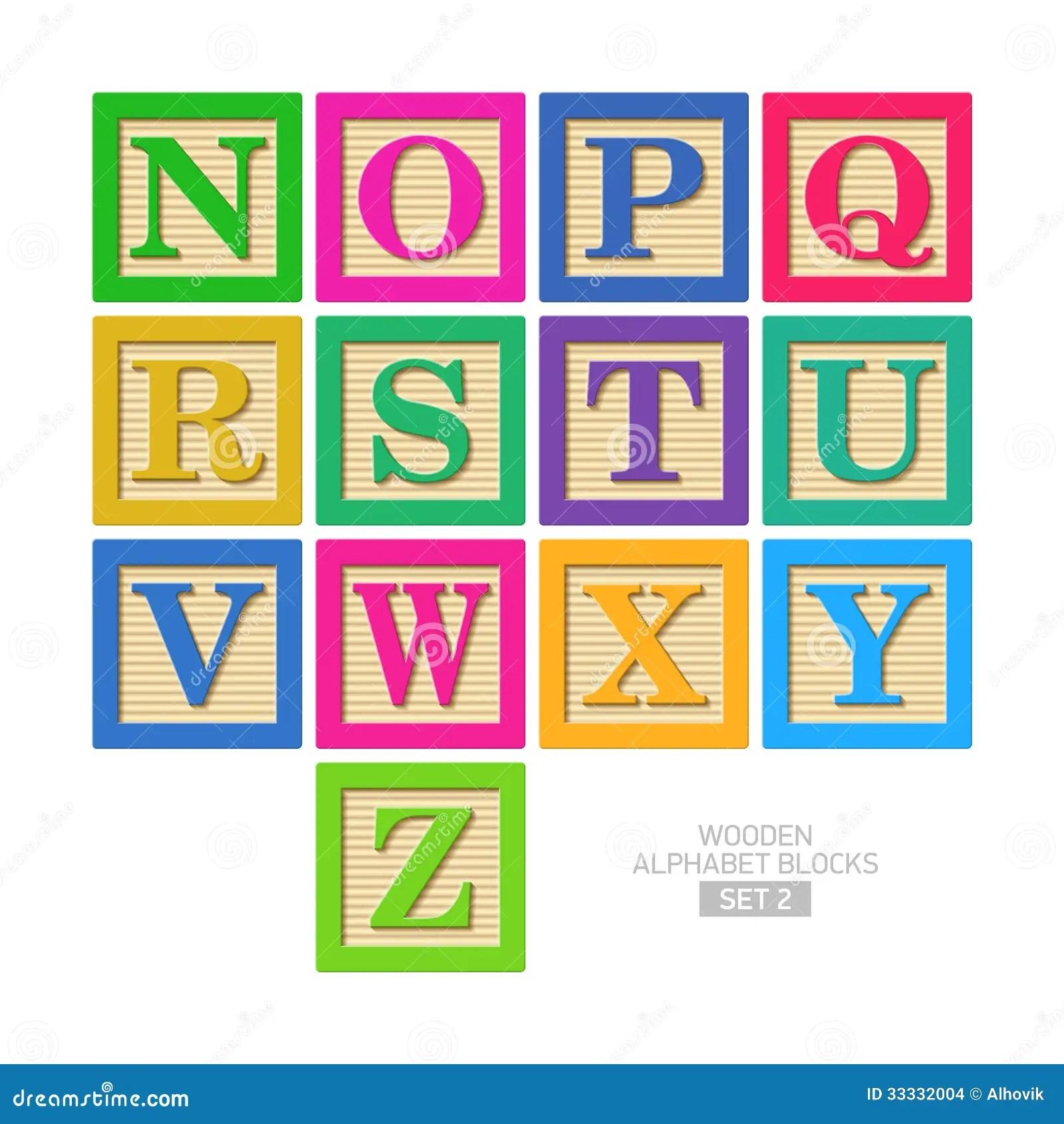 Wooden Alphabet Blocks Stock Vector Illustration Of Game