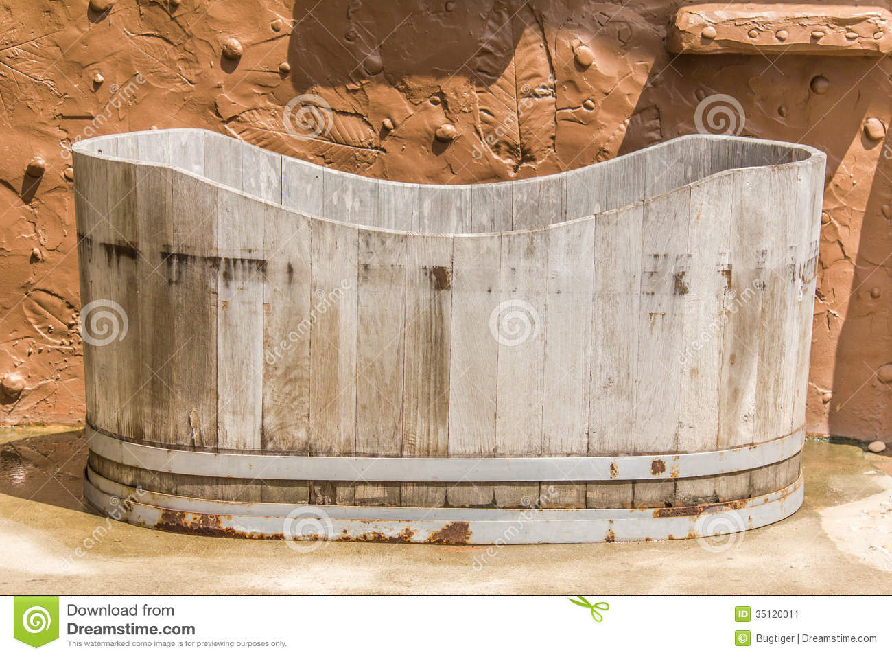 Wooden Bathtub Stock Image Image 35120011