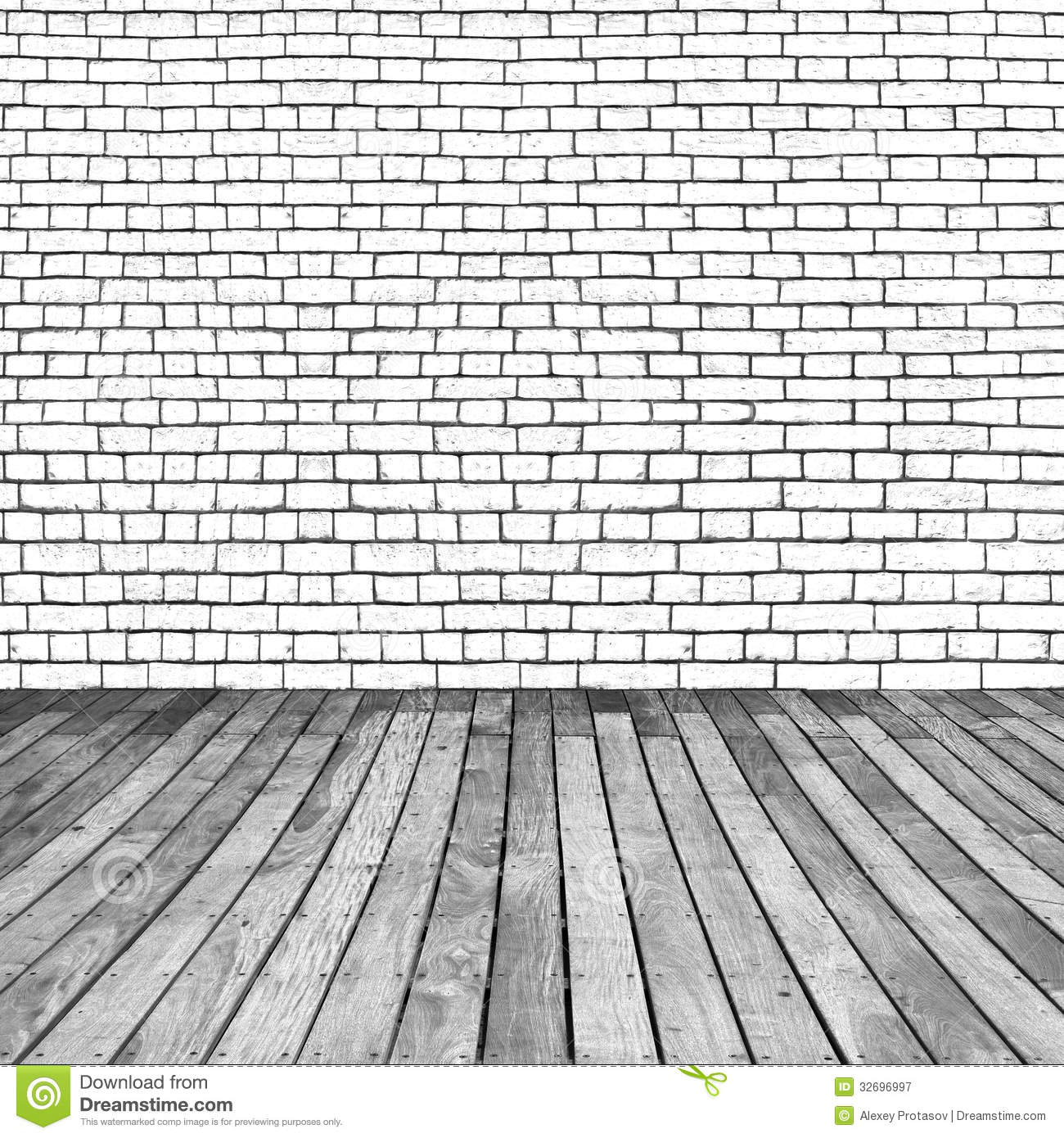Wooden And Brick Background Stock Image Image Of