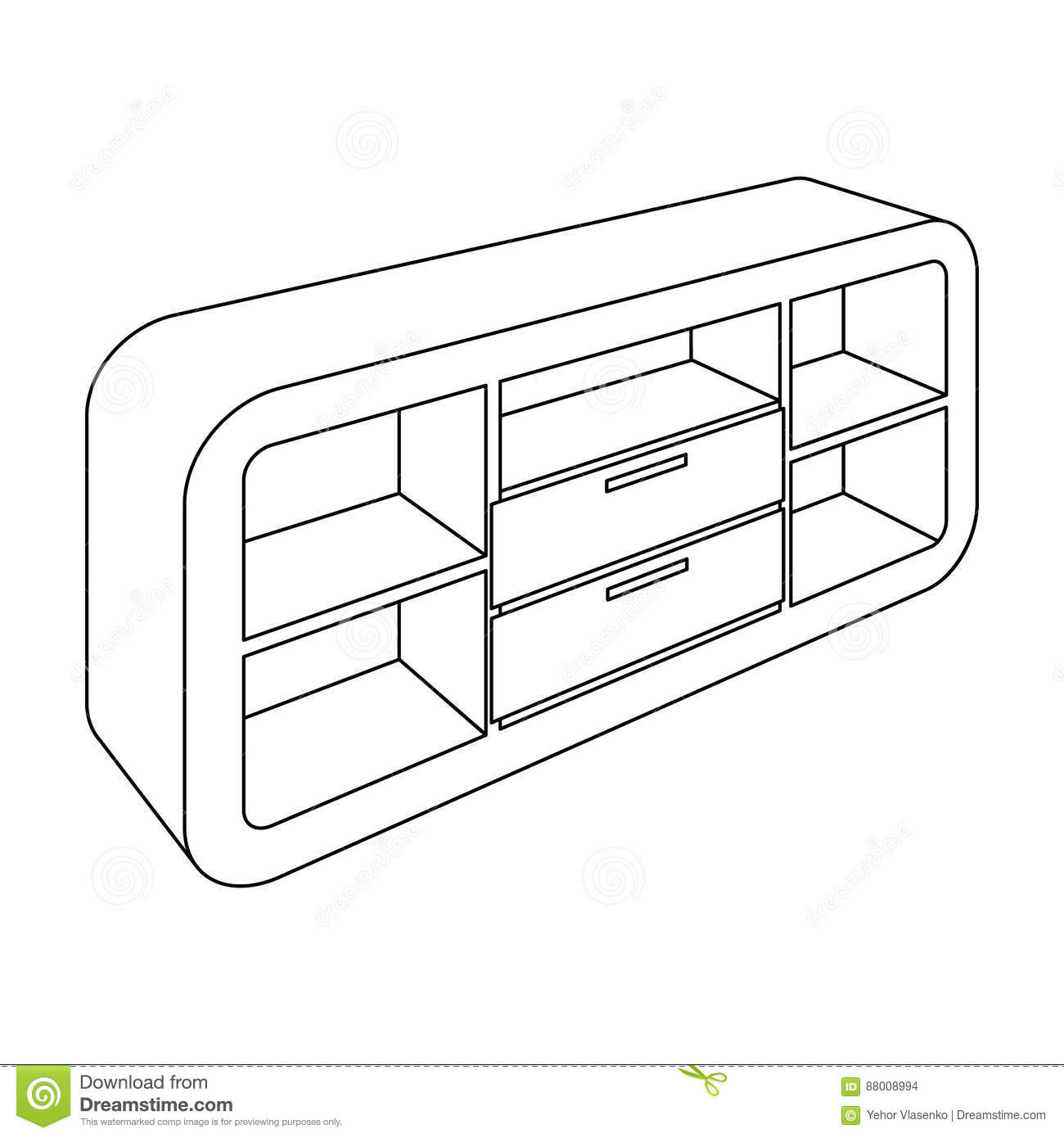 Wooden Cabinet With Lockers And Cupboards Standdroom