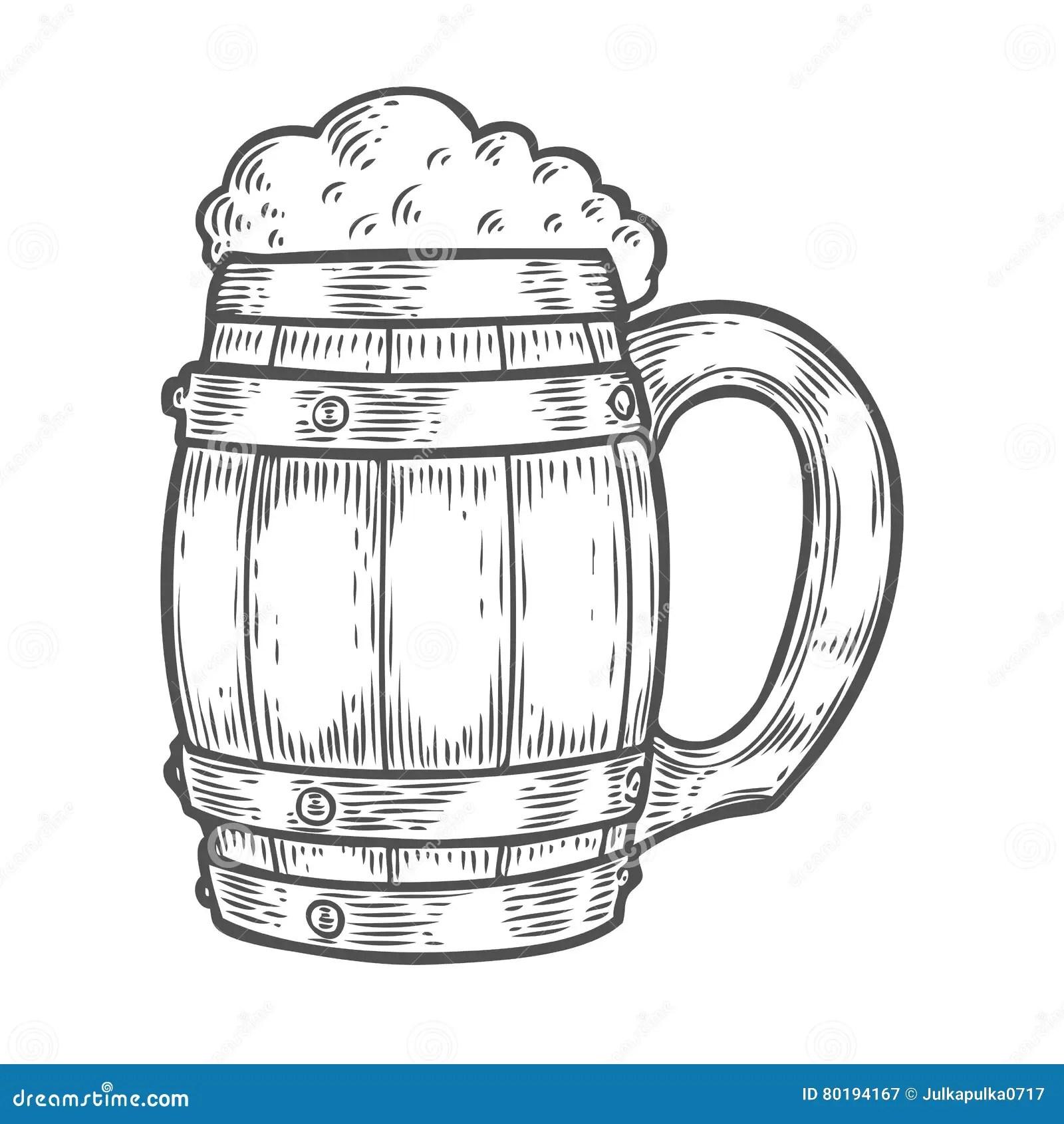 Craft Beer And Pub Sketch Vector Illustration Vector