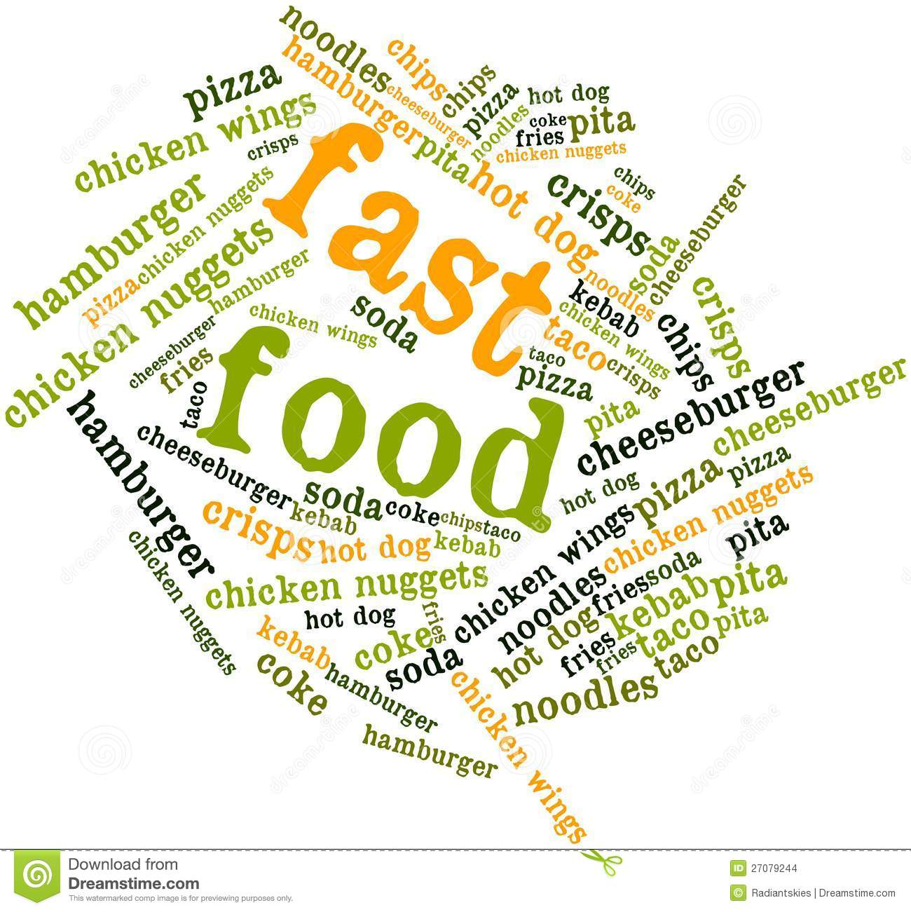 Word Cloud For Fast Food Stock Illustration Image Of Term