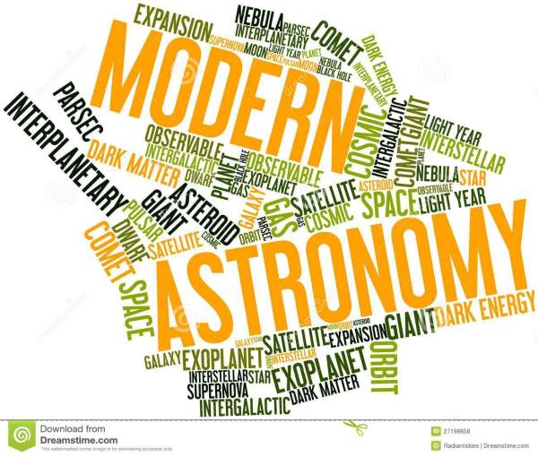 Word Cloud For Modern Astronomy Stock Illustration ...