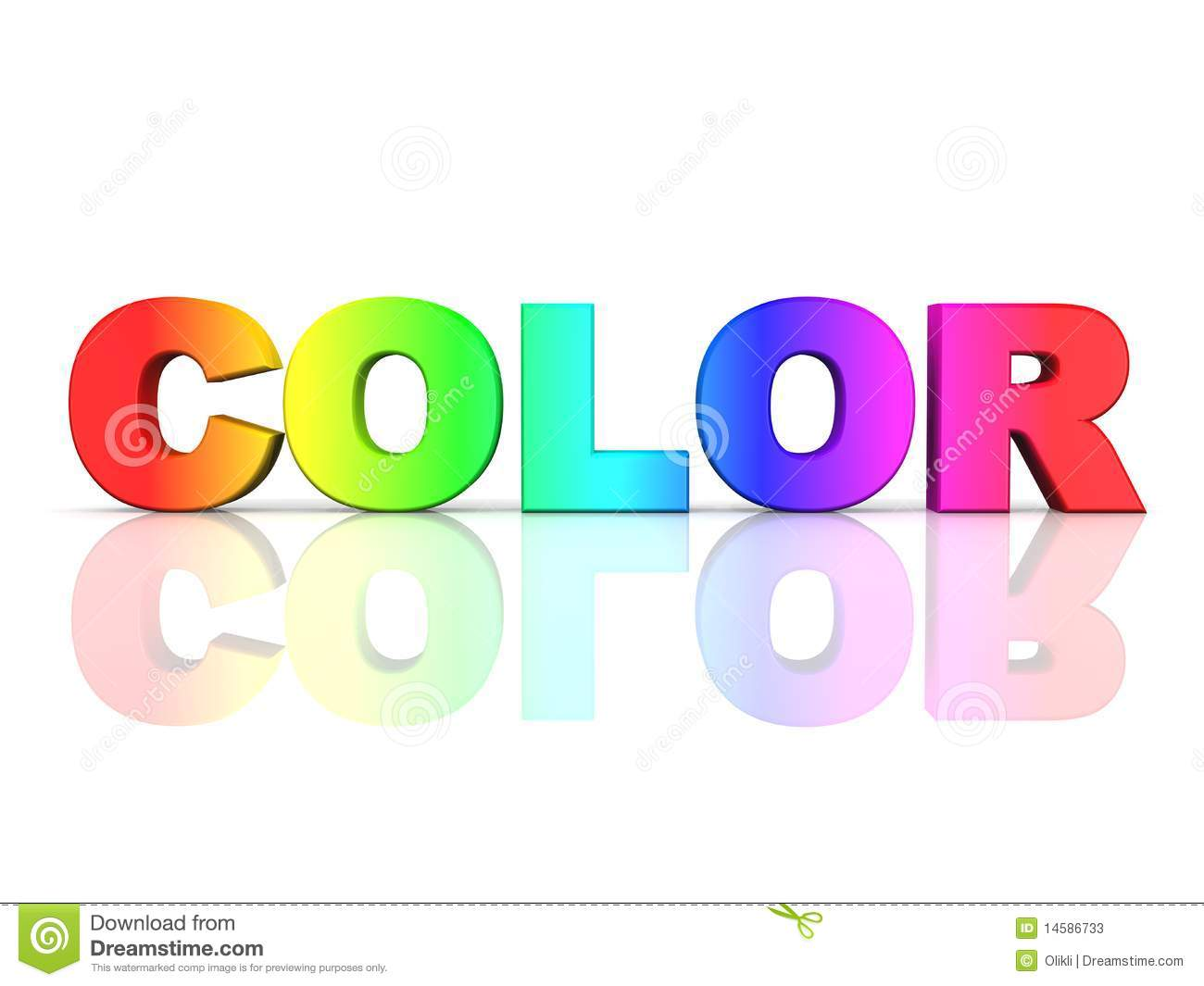 The Word Color In Rainbow Colors Stock Illustration