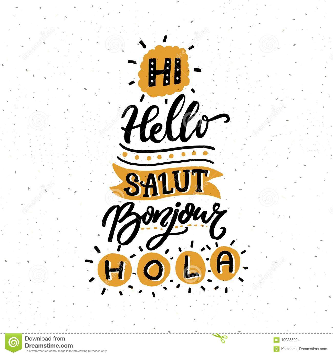 Word Hello In Different European Languages Salut French