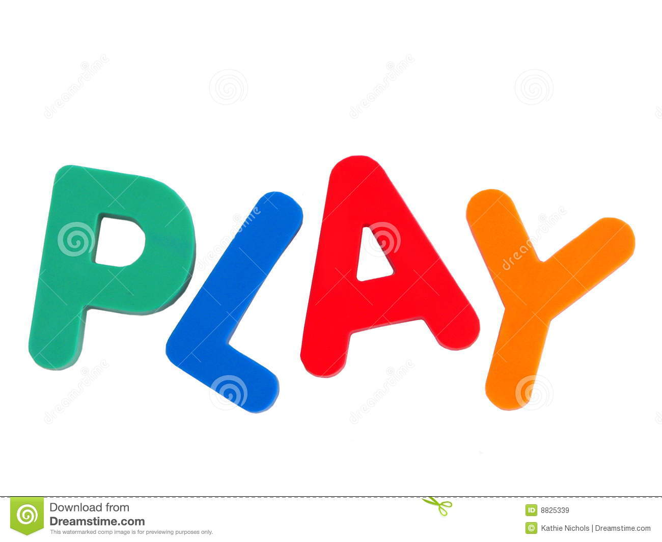 The Word Play Stock Image Image Of Play Vertical Green