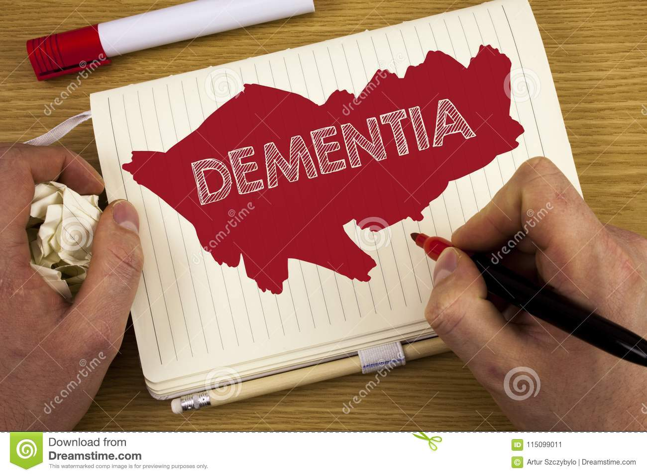 Word Writing Text Dementia Business Concept For Long Term