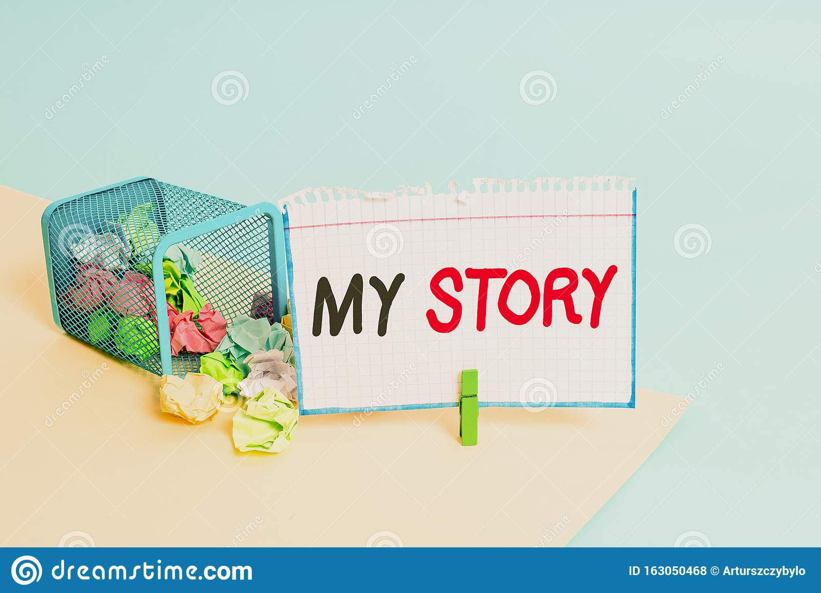 Word Writing Text My Story Business Concept For The
