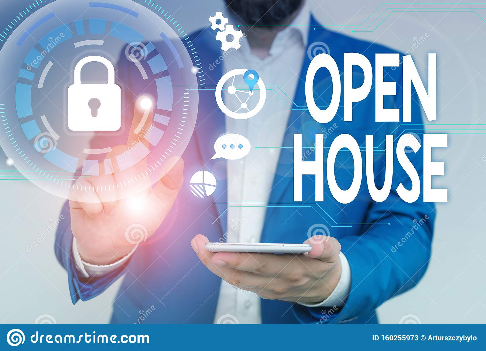 Word Writing Text Open House Business Concept For You Can