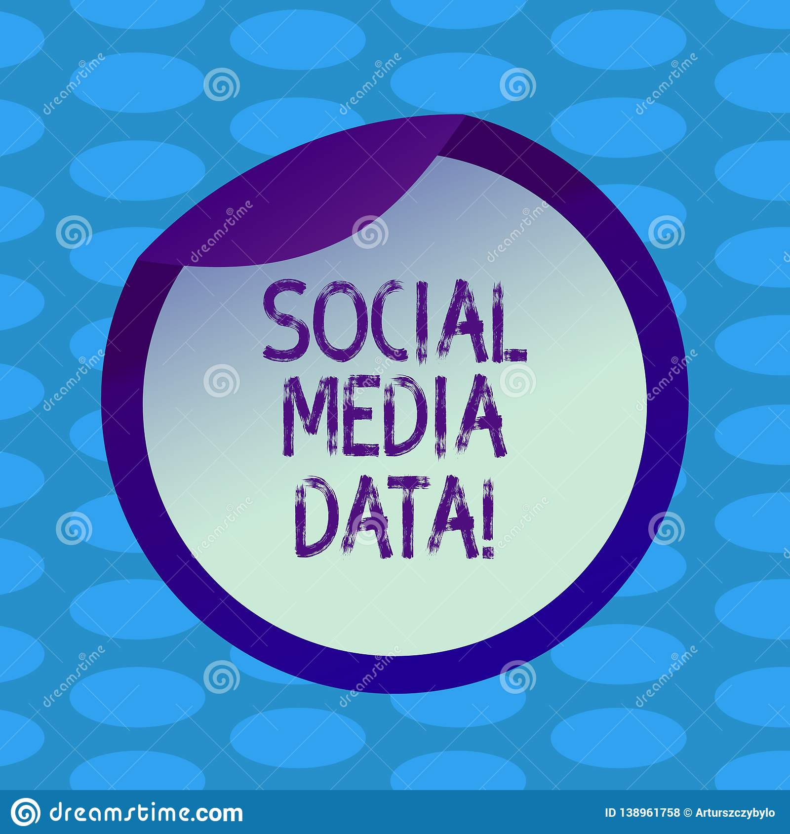 Word Writing Text Social Media Data Business Concept For