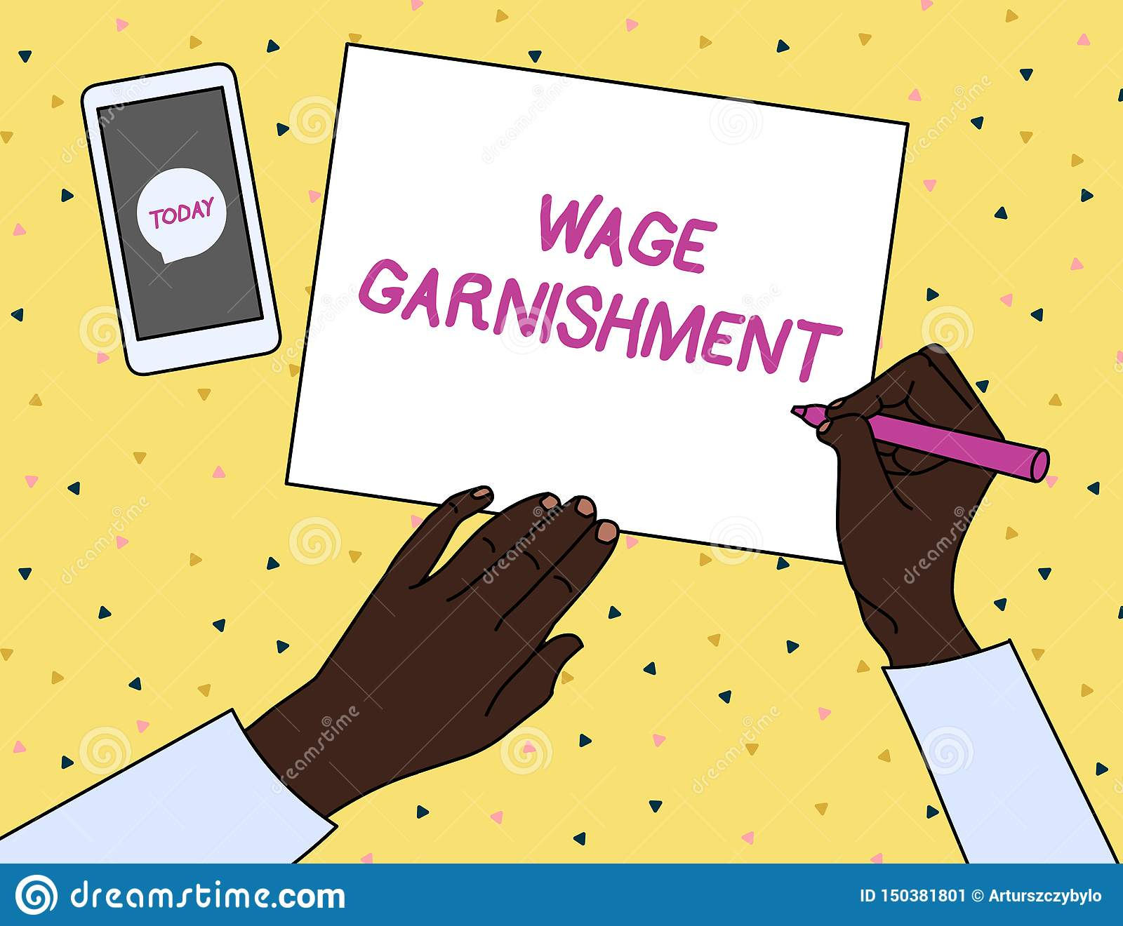 Word Writing Text Wage Garnishment Business Concept For