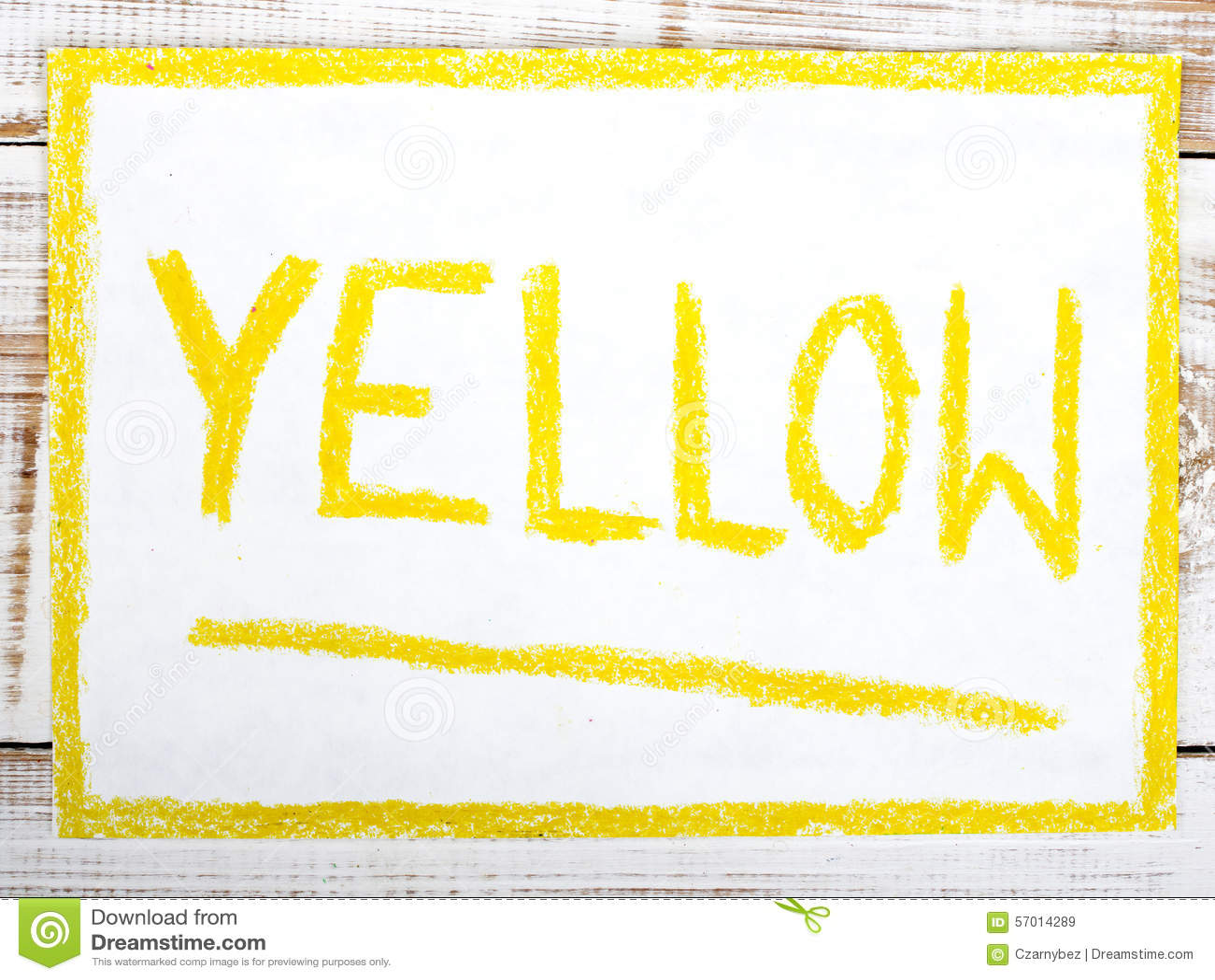 Word Yellow Stock Illustration Illustration Of Word