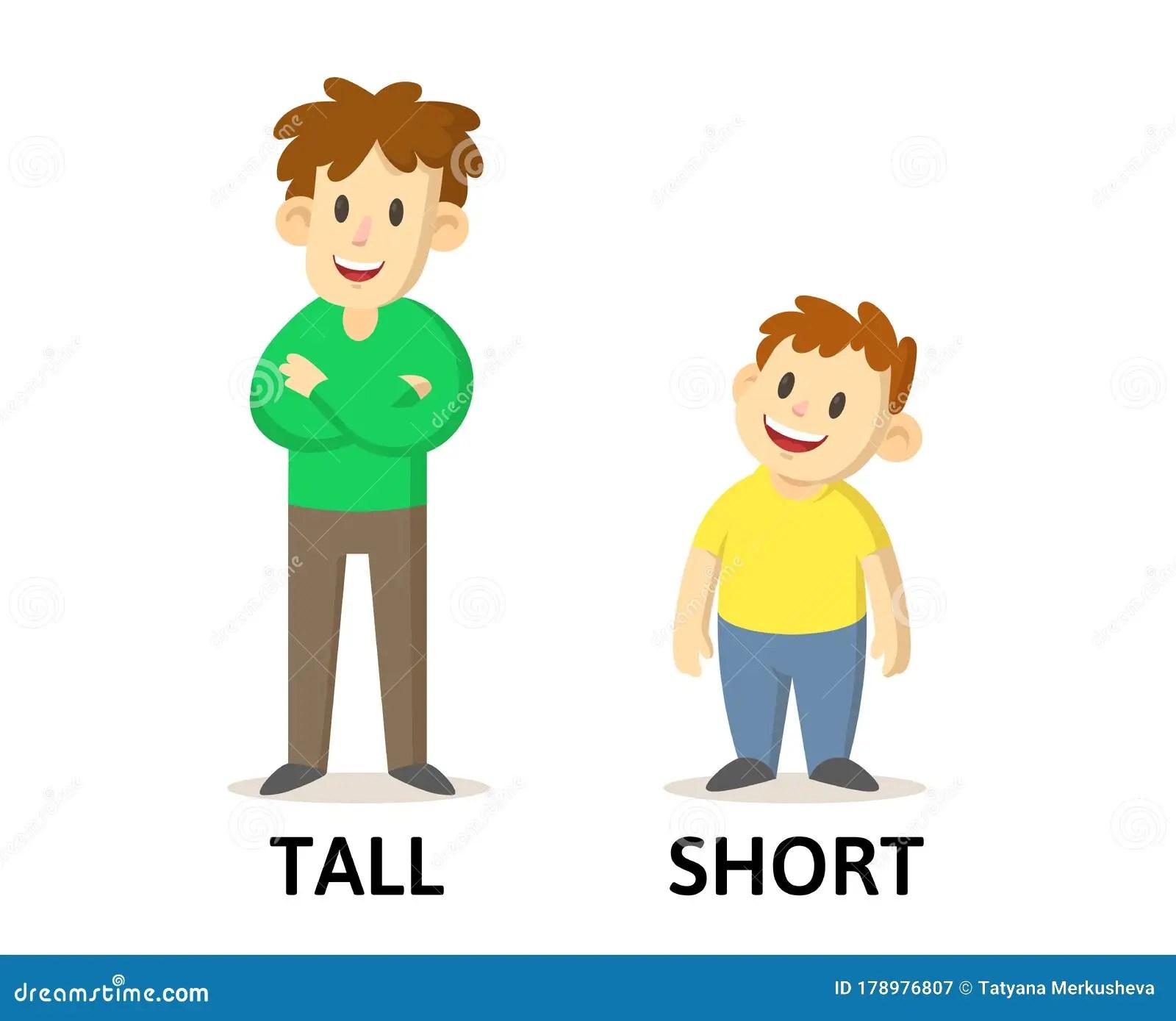 Cartoon Tall Short Kids Stock Illustrations 35 Cartoon