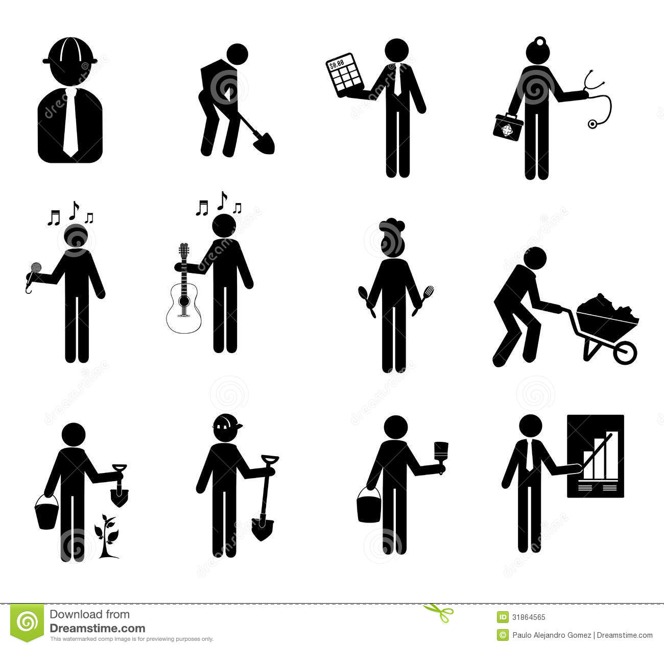 Worker Icon Stock Vector Illustration Of Builder People