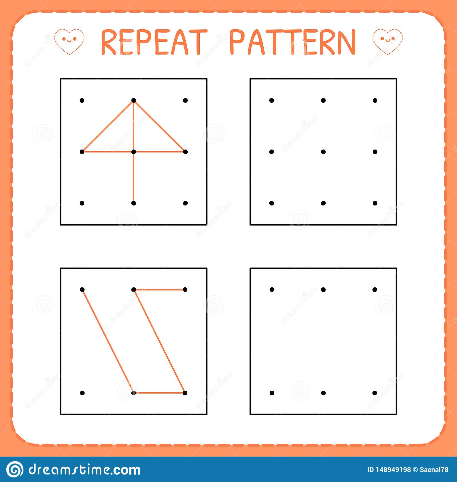 Working Pages For Children Repeat Pattern Preschool