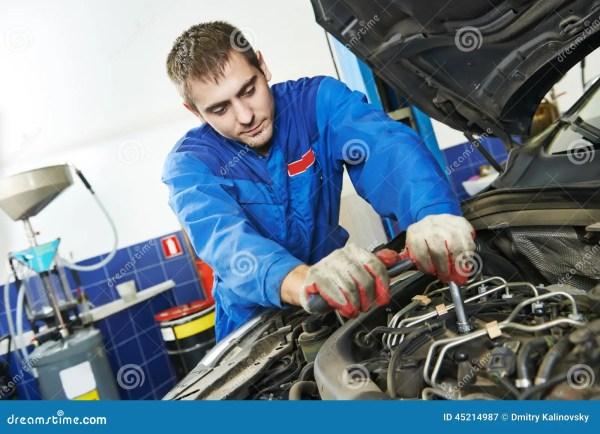 Working Repairman Auto Mechanic Stock Image - Image of ...