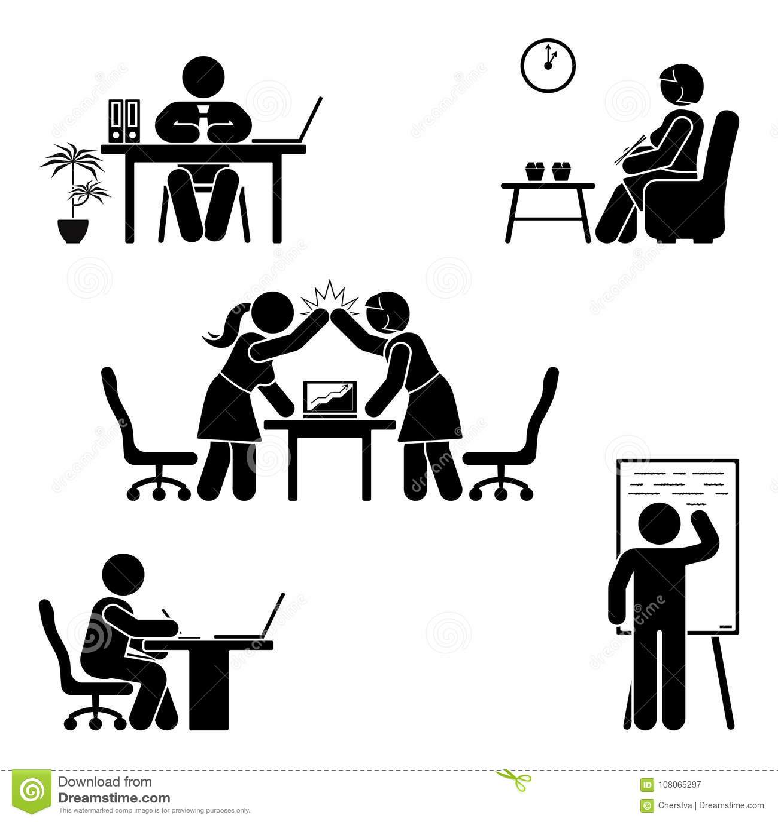 Working Sitting Talking Meeting Training Discussing